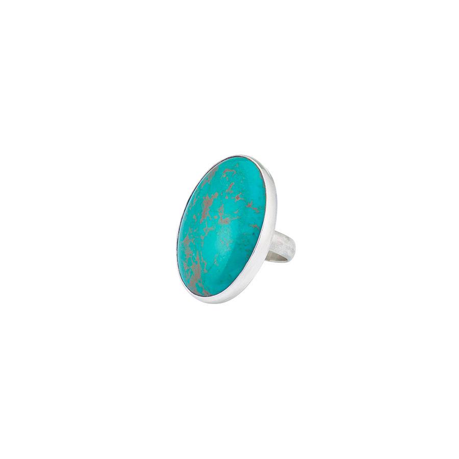 bague pierres de turquoise perle de jade