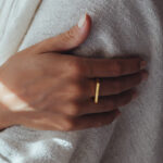 Rectangular vermeil ring