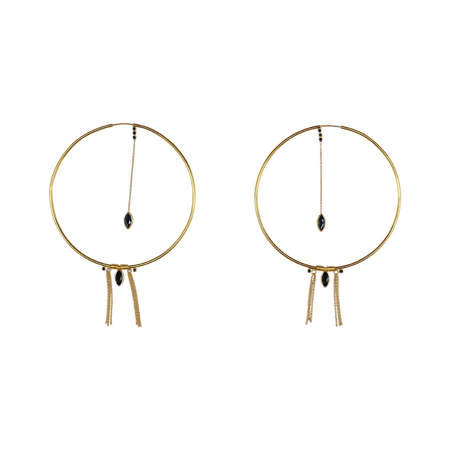 boucle-oreilles-creoles-vermeil-18-carats-plaque-or-quartz-noir-perle-de-jade