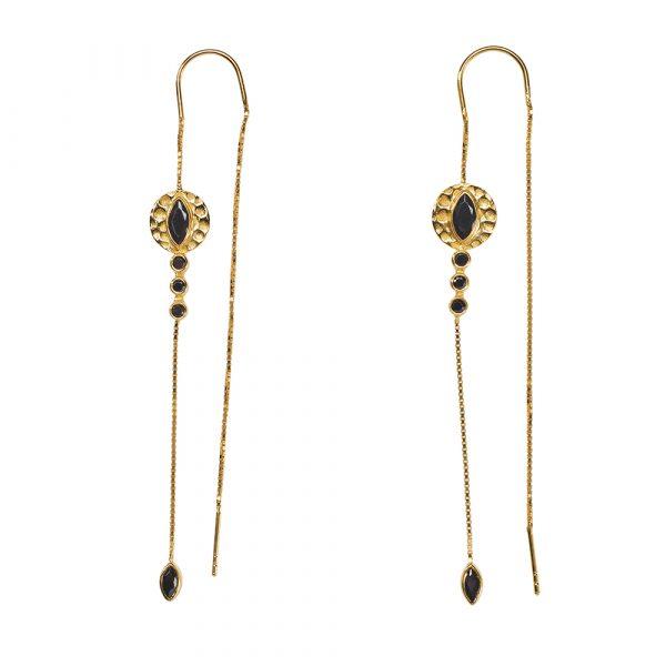 boucles-oreilles-pendantes-vermeil-quartz-noir