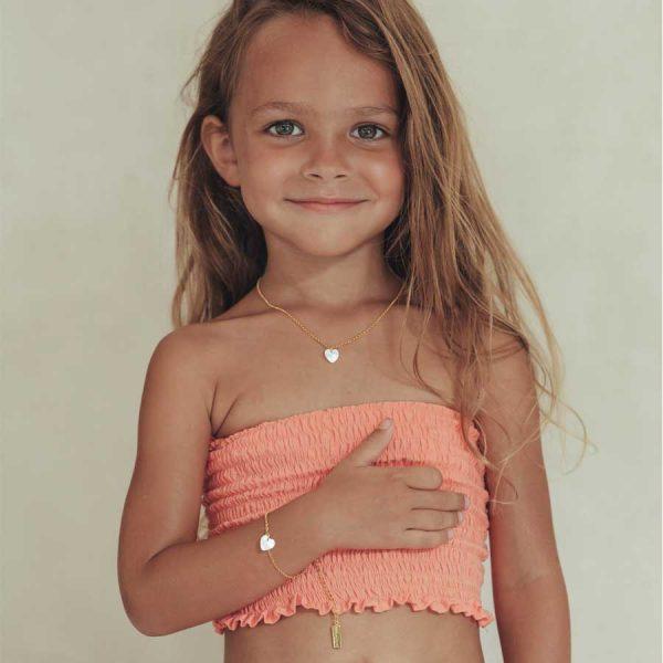 collier enfant avec pendentif coeur en vermeil
