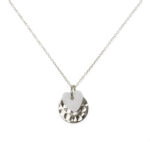 collier enfant coeur argent massif 925 perle de jade