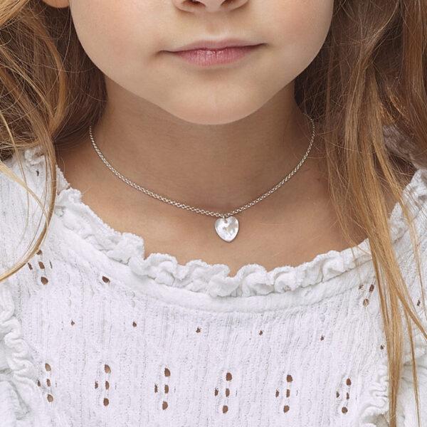 collier enfant cœur perle de jade