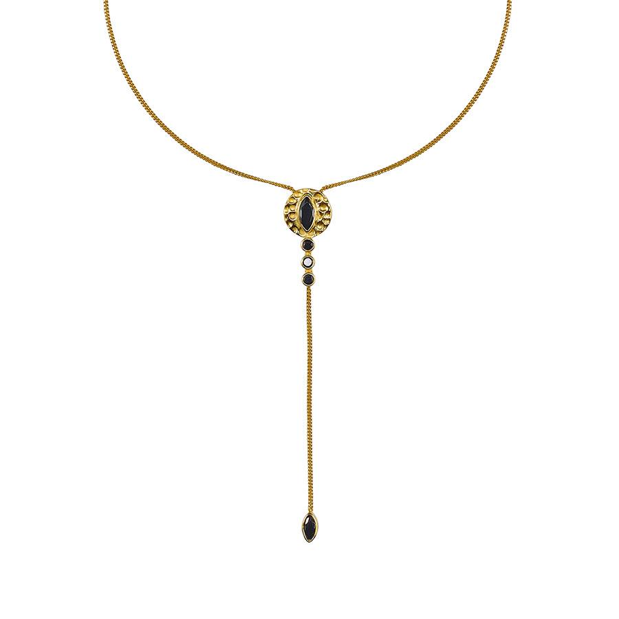 collier vermeil plaqué or perle de jade