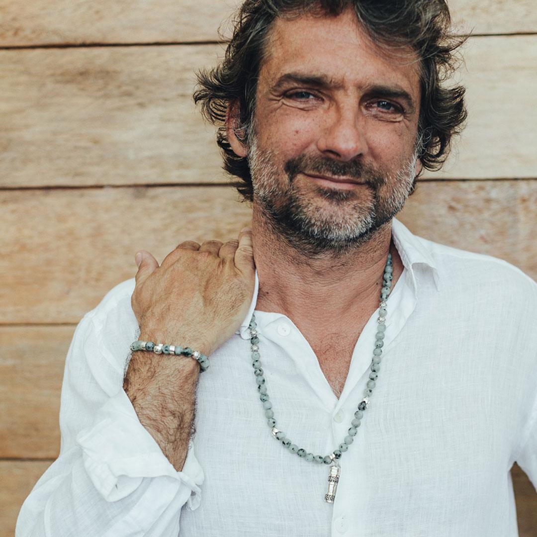 Collier bouddhiste homme Perle de Jade
