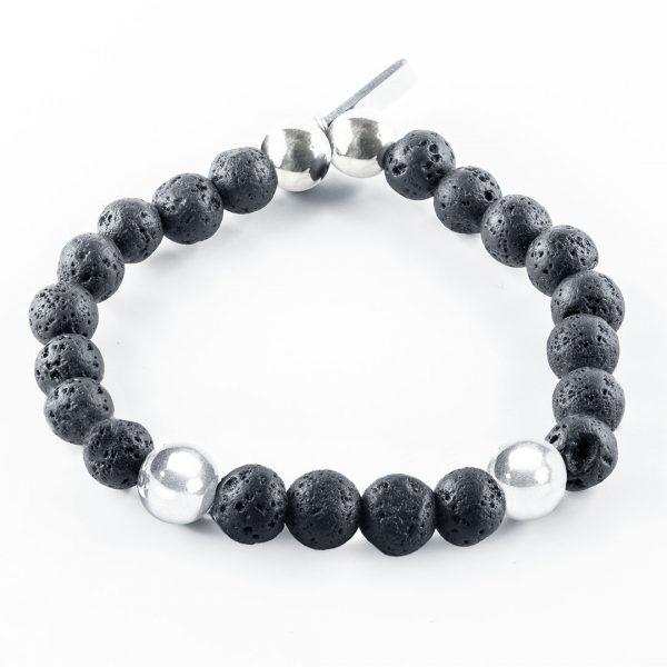 Bracelet pierre de lave pour homme Perle de Jade