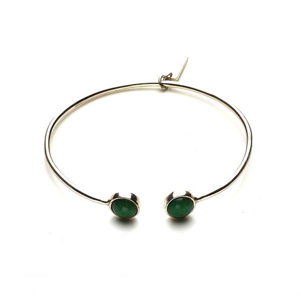 Bracelet argent et Jade