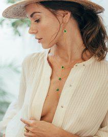 Bague Perle de Jade en vermeil 18 carats et pierre de Jade