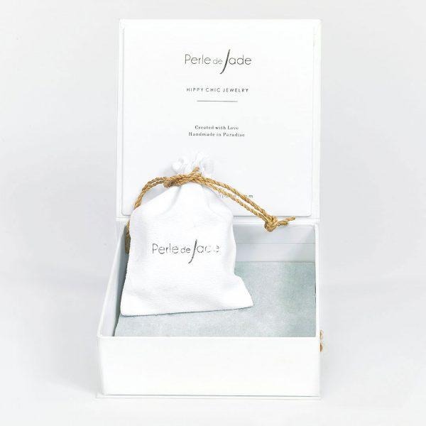 Perle de Jade boite à bijoux blanche