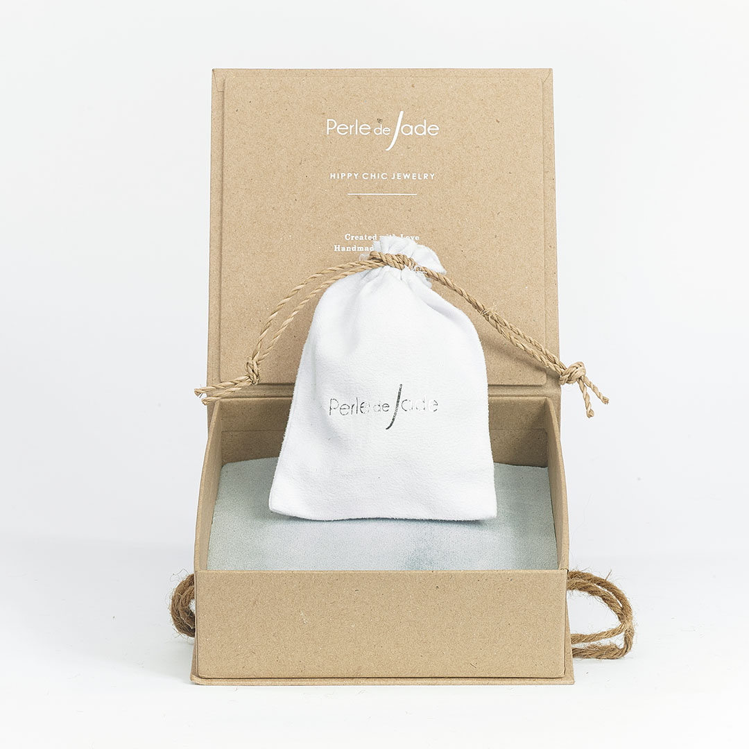 Boite à bijoux naturelle - Perle de Jade