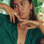 bague vermeil et pierres de jade