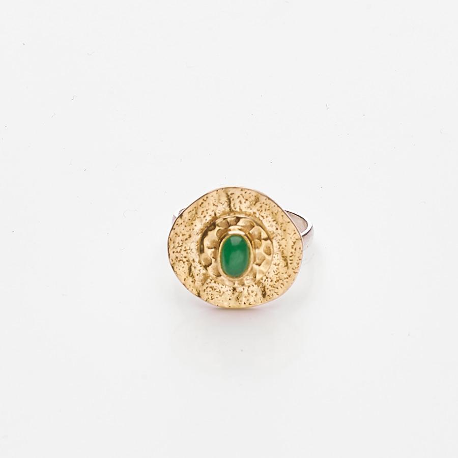 bague vermeil perle de jade