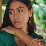 boucles d'oreilles pendantes vermeil jade