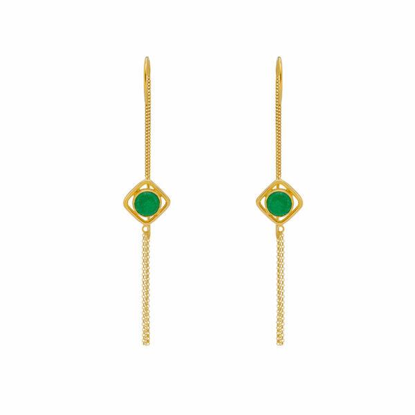 boucles d'oreilles muse pierre de jade