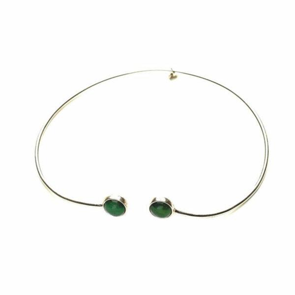 collier ras de cou pierre de jade