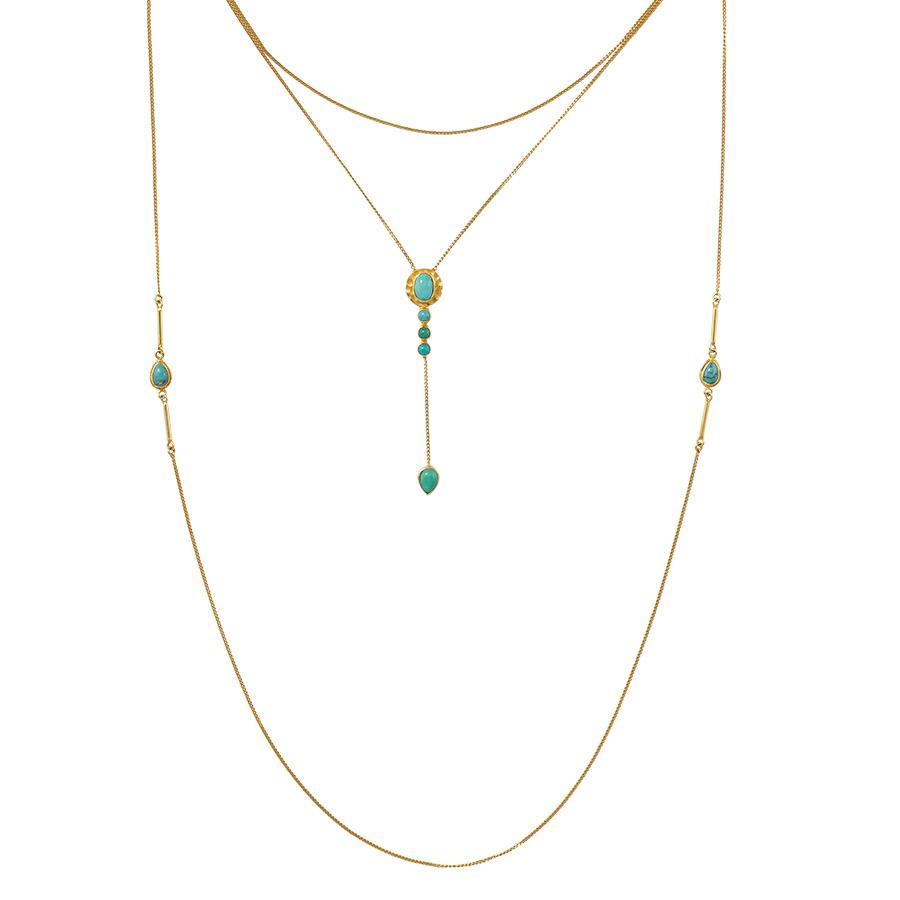 collier pierres de turquoises perle de jade