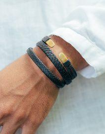Bracelet Homme en cuir naturel - Maison Perle de Jade