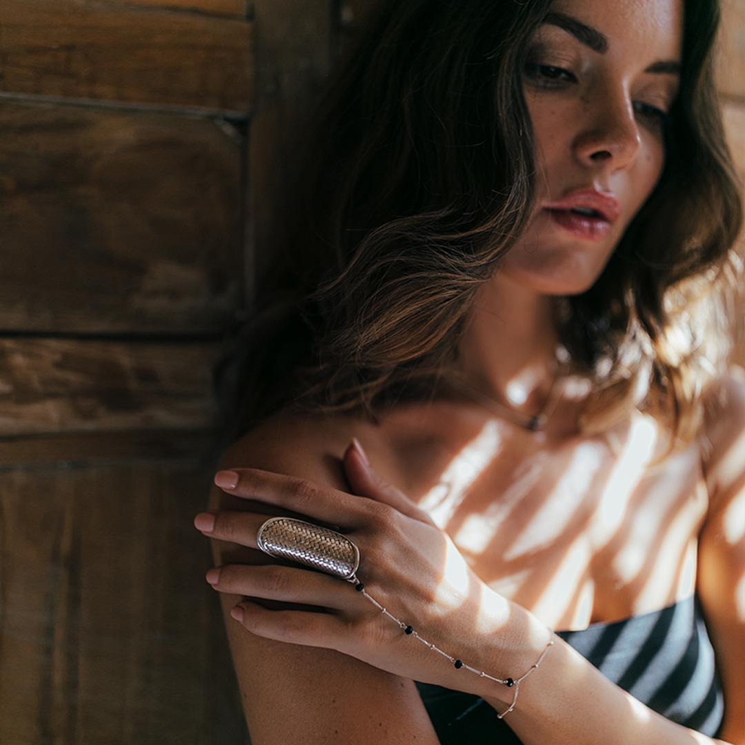 Chaîne main en argent massif 925 -Bijoux pour Femmes - Marque Perle de Jade