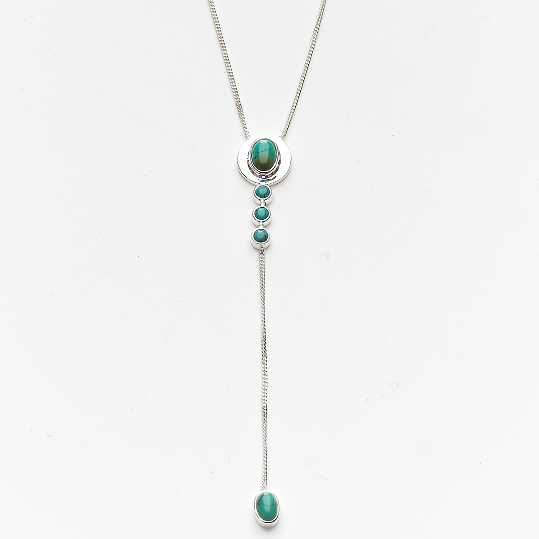 Necklace in Solid Silver And Turquoise