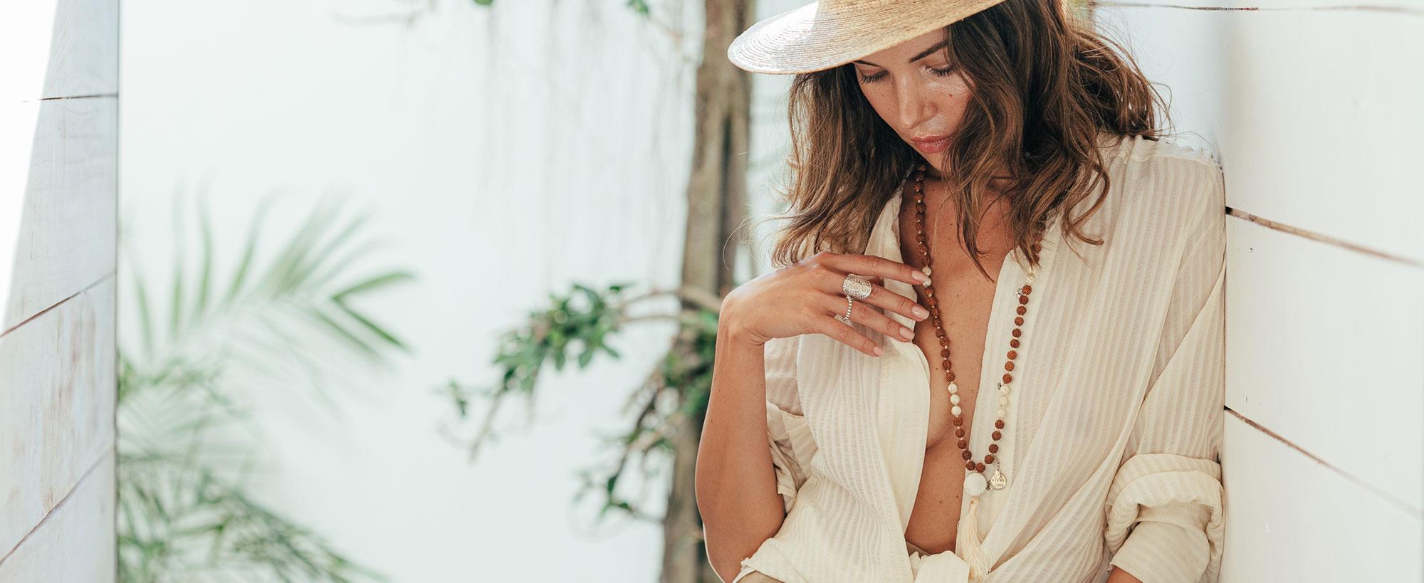 Perle de Jade bijoux pour femme en argent, vermeil et pierres naturelles