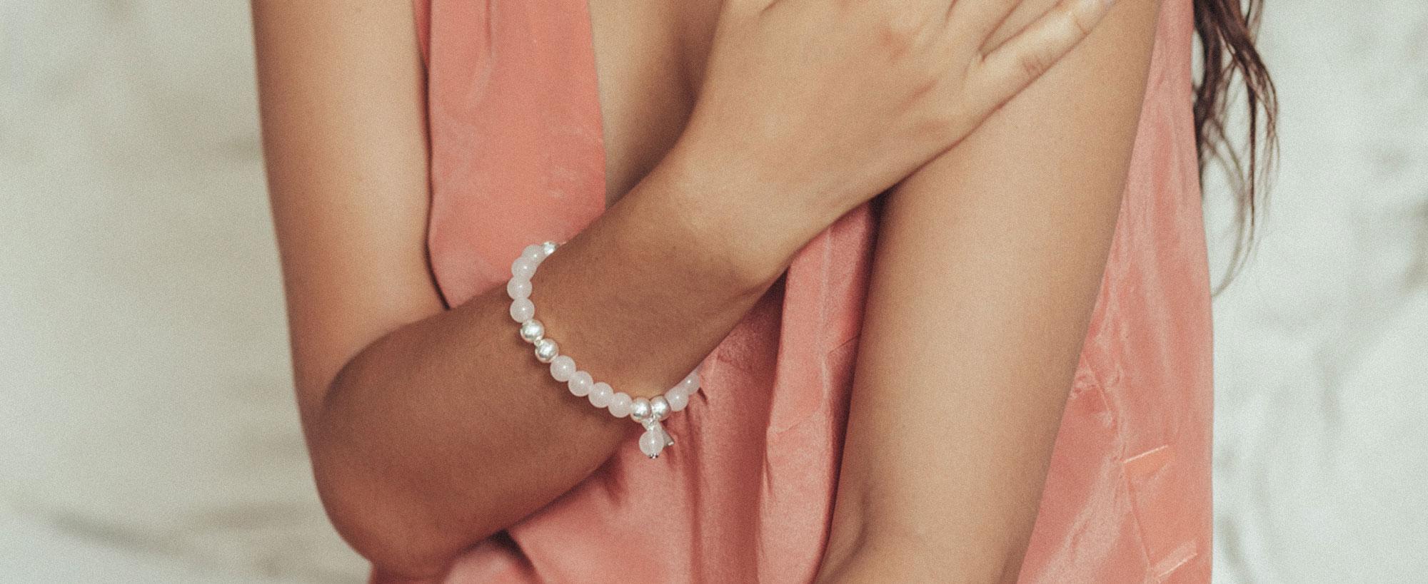 Perle de Jade Bracelet pierres naturelles good karma