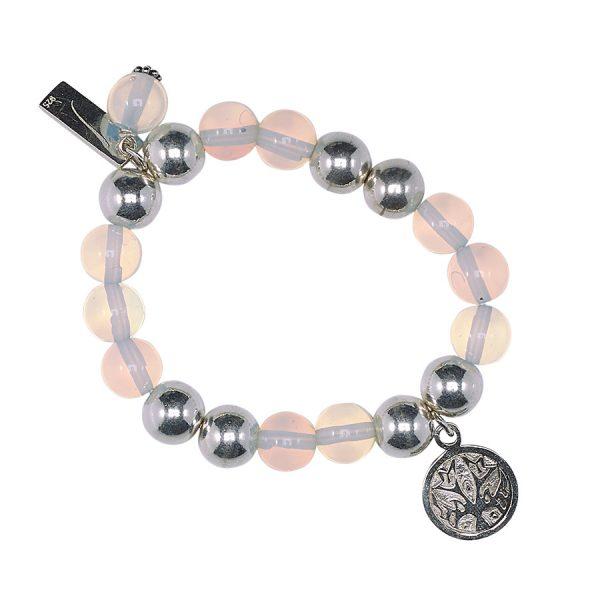 Bracelet enfant good karma argent 925 et opaline