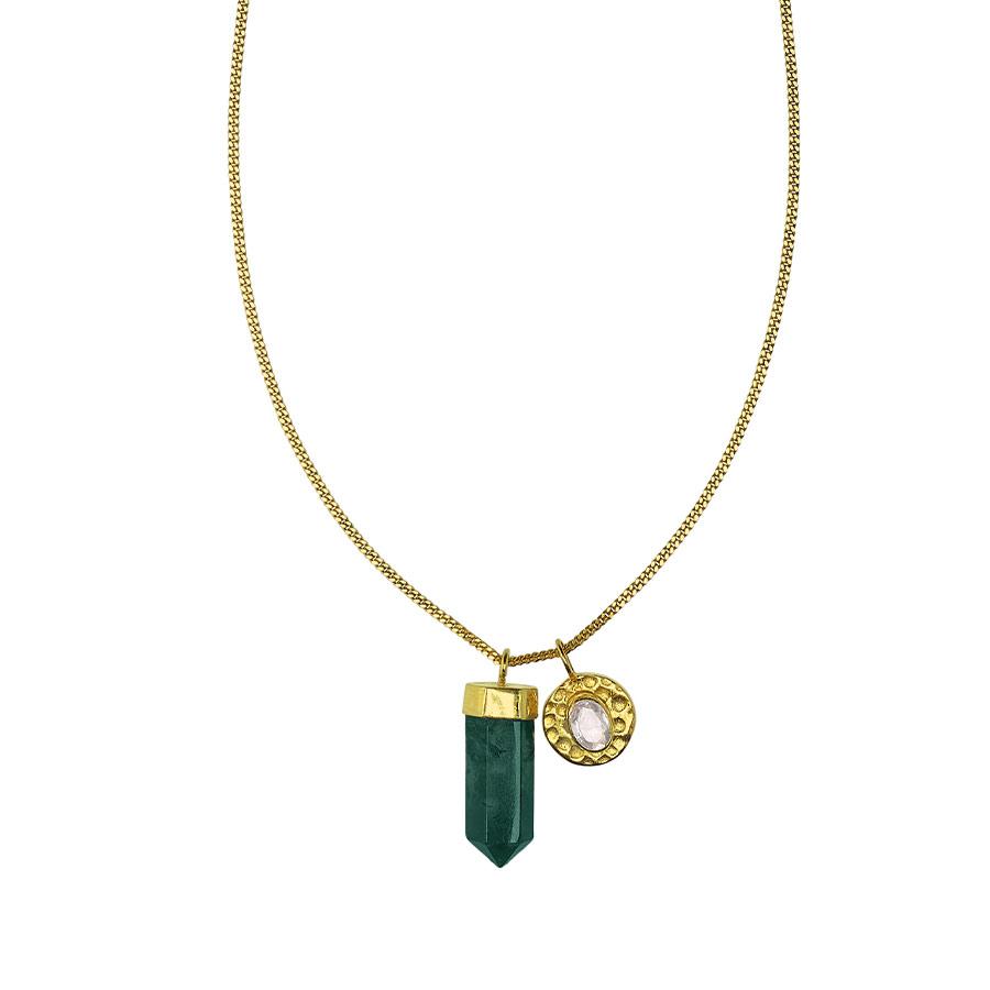 Collier-charms-vermeil-18-carats-et-quartz-vert