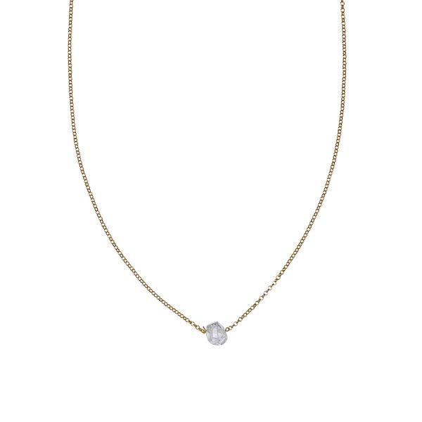 collier shooting stars vermeil 18 carats et quartz transparent