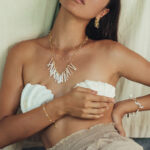 """Bracelet """"Perla"""" vermeil plaqué or 18 carats et perles de culture"""
