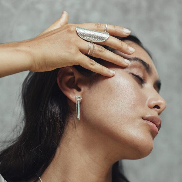 boucles oreilles argent perle de jade
