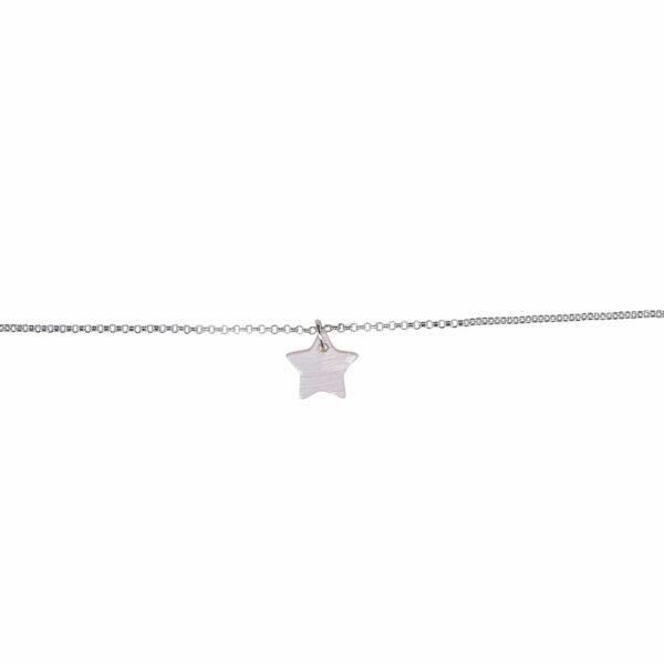 bracelet enfant étoile argent perle de jade