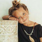 perle de jade bijoux - bracelet jonc enfant my baby love lanière en cuir marron et argent