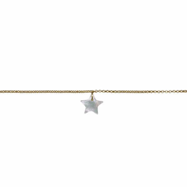 bracelet enfant étoile vermeil plaqué or perle de jade