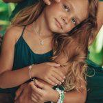 perle de jade bijoux - bracelet enfant good karma argent 925 et pierres de jade