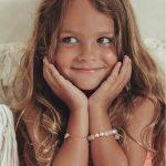 perle de jade bijoux - bracelet enfant good karma argent 925 et quartz rose