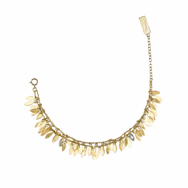 bracelet vermeil plaqué or perle de jade