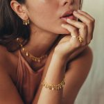 perle de jade bijoux - bracelet feathers vermeil 18 ct et quartz