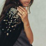 perle de jade bijoux - bracelet stardust vermeil 18 ct et quartz noir