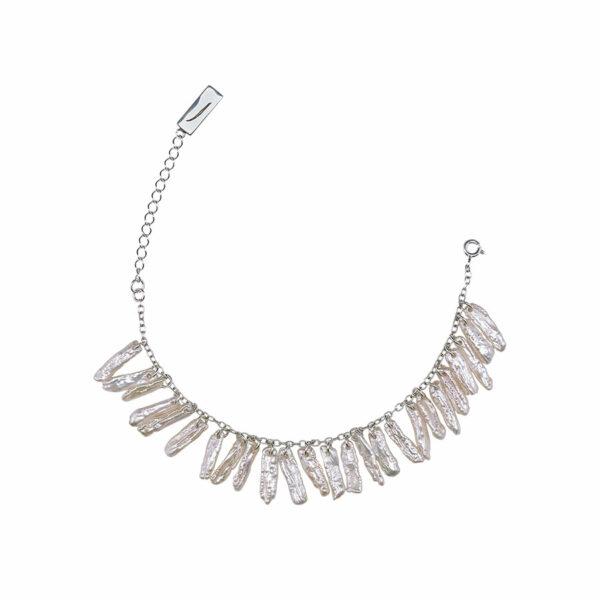 bracelet atlantis argent 925 et nacres blanches
