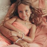 perle de jade bijoux - collier baby love vermeil 18 ct et quartz rose