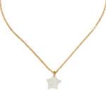 Collier enfant avec pendentif étoile en vermeil plaqué or 18 carats