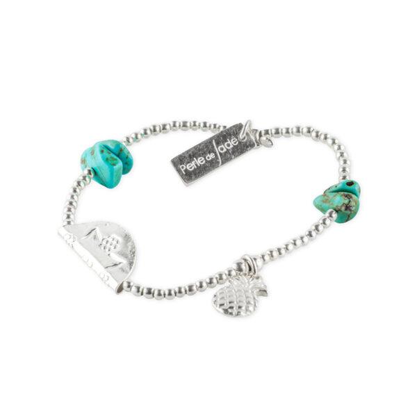 bracelet elastique ananas perle de jade