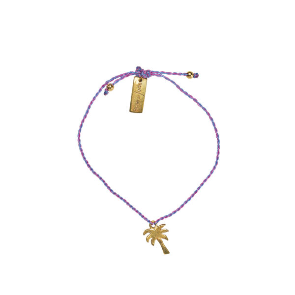 Bracelet enfant fil palmier plaque or