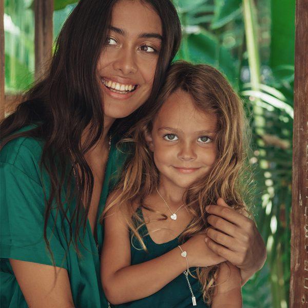 Collection enfant argent cœur-perle-de-jade