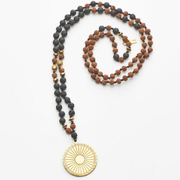 collier bouddhiste mâlâ de méditation perle de jade