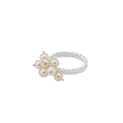 bague perlita argent massif perle de culture perle de jade
