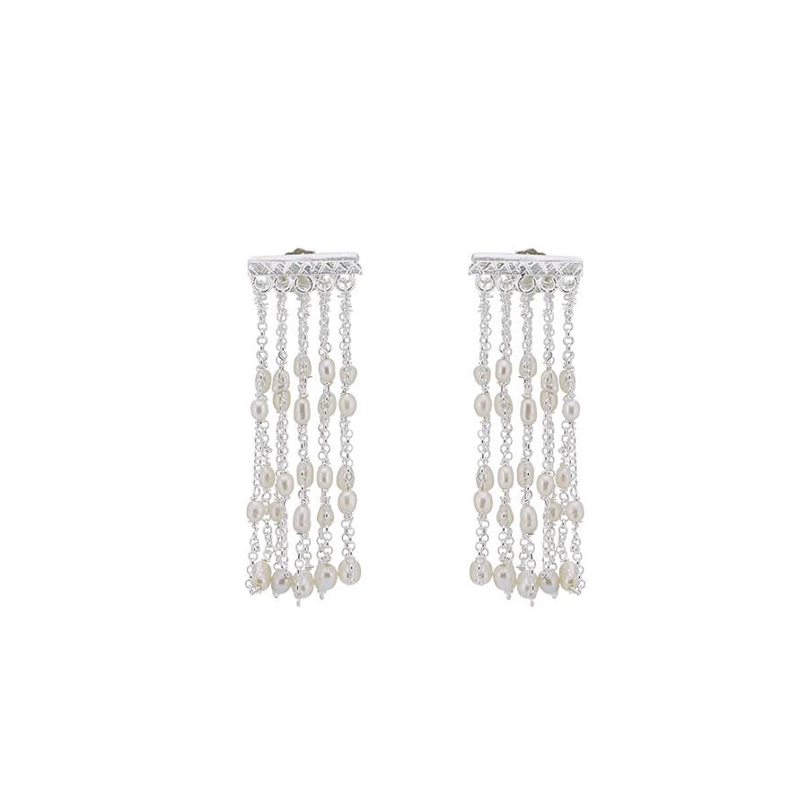 boucles d'oreilles perla argent massif perle de jade