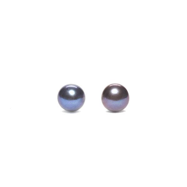 boucles doreille perle de culture noire perle de jade