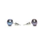 boucles doreille perle de culture noire perle de jade jewel