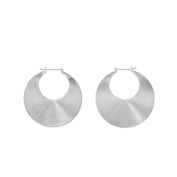 boucles d'oreilles créoles argent massif perle de jade